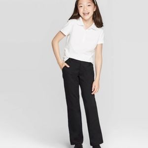 Girls Bootcut Stretch Uniform Chino Pants